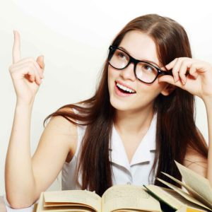 Schülerin beim Lernen
