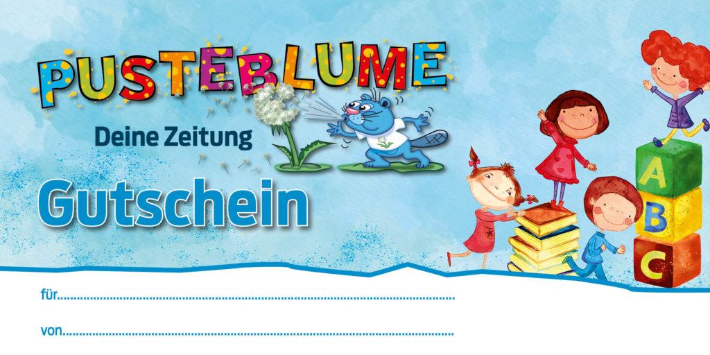 Gutschein Pusteblume Kinderzeitung