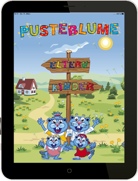 Pusteblume App - Kinder- und Elternbereich