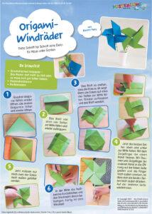 Origami-Windräder